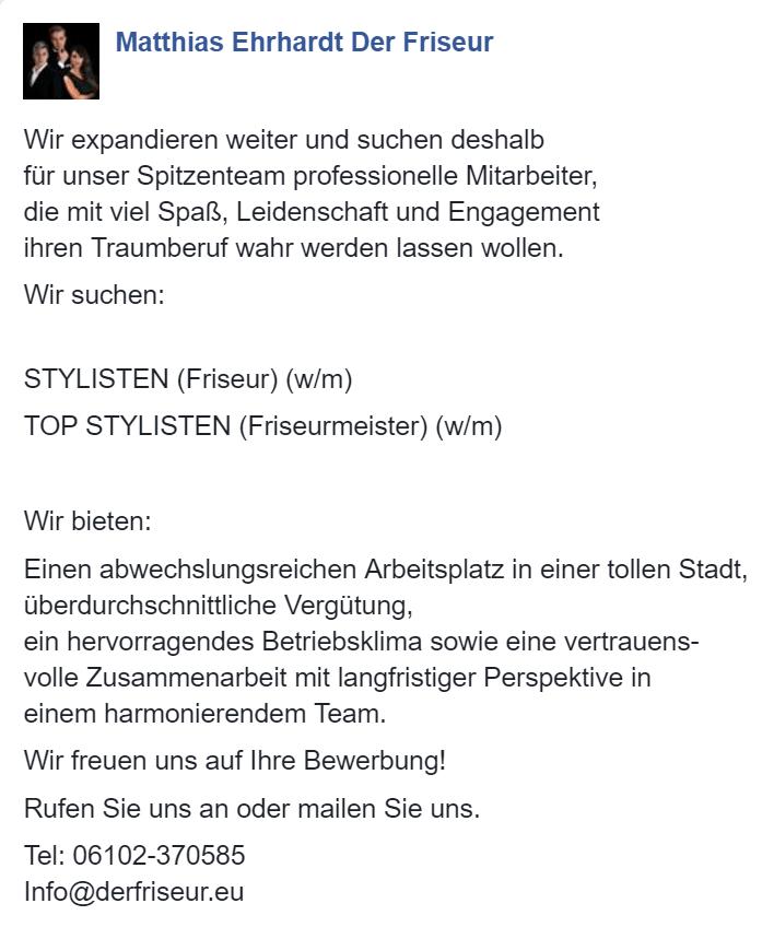 stylisten friseure friseurmeister gesucht - Bewerbung Friseurin